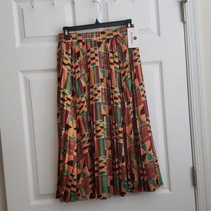 Silky kente printed below knee length skir